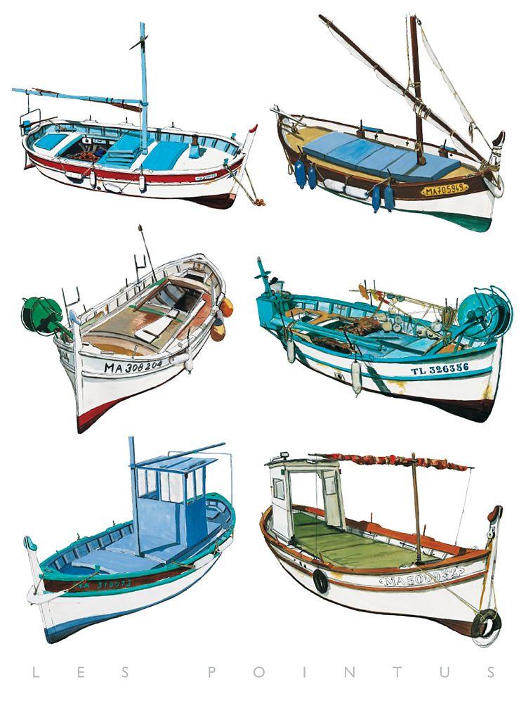 pointus marseillais et rafiaus toulonnais fender printshop dessins pinterest bateaux. Black Bedroom Furniture Sets. Home Design Ideas