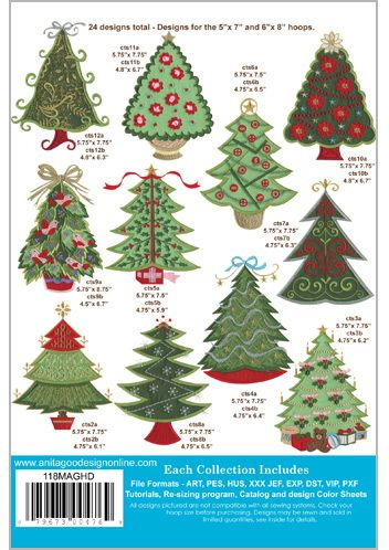 Anita Goodesign Christmas Trees Anita Goodesign Christmas Tree Embroidery Designs Machine Embroidery Designs