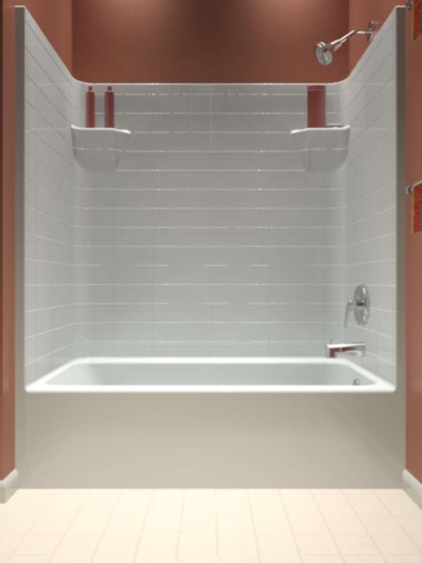 One Piece Bathtub Shower Combo With Images Tub Shower Combo