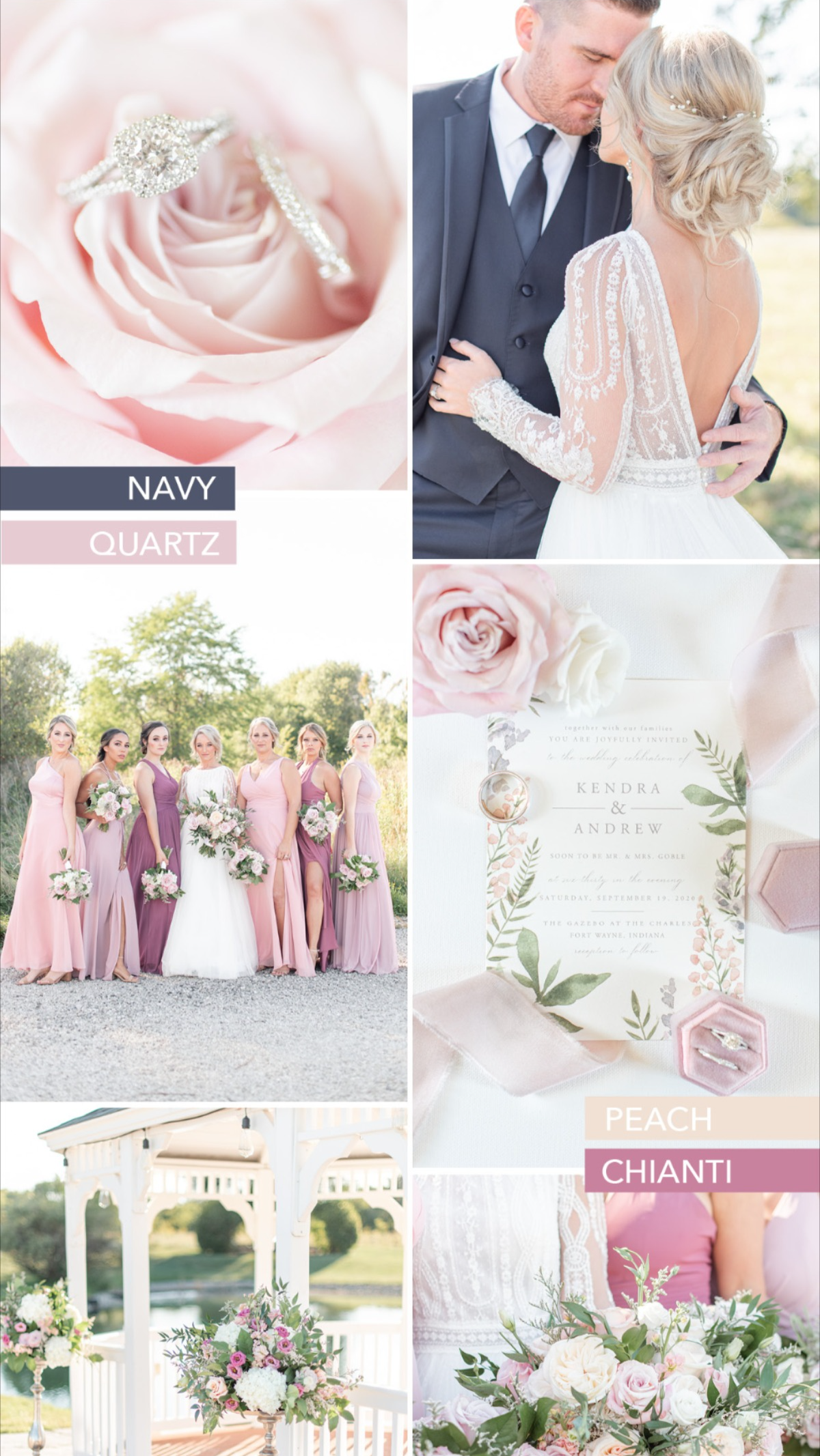 Romantic Rosy Blush Sunset Wedding