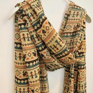 Moda quente Natal caricatura mulheres slik lenço liliputiano padrão longo de mulheres lenço capa lenço HOT