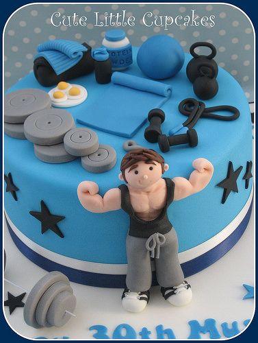 Resultado De Imagen De Gym Cake Cumpleanos Bizcocho