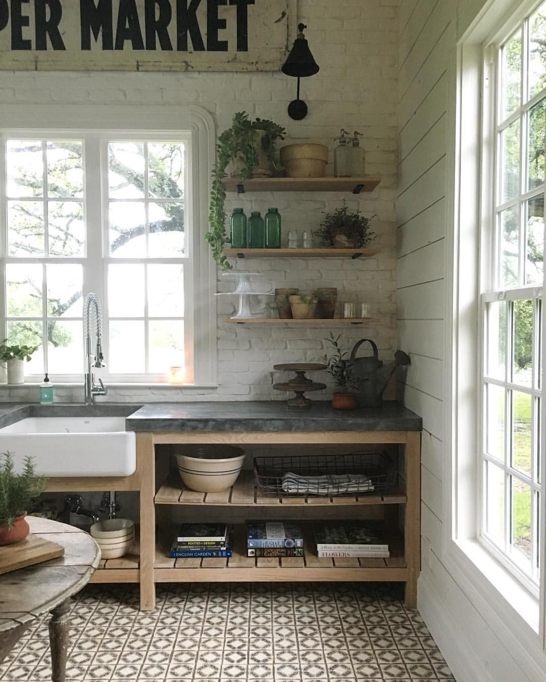 Open Kitchen Cabinet Decorating Ideas: Take A Tour Of Chip And Joanna Gaines's Shiplap-Filled