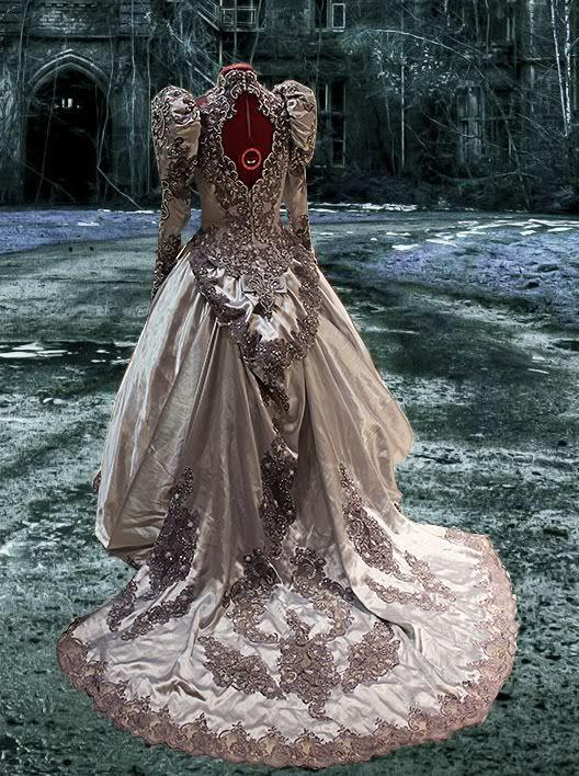 Steampunk wedding gowns victorian gothic steampunk for Victorian bustle wedding dress