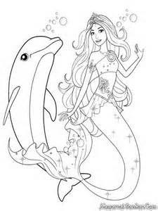 Gambar Barbie Putri Duyung Bermain Dengan Ikan Lumba Lumba Dengan