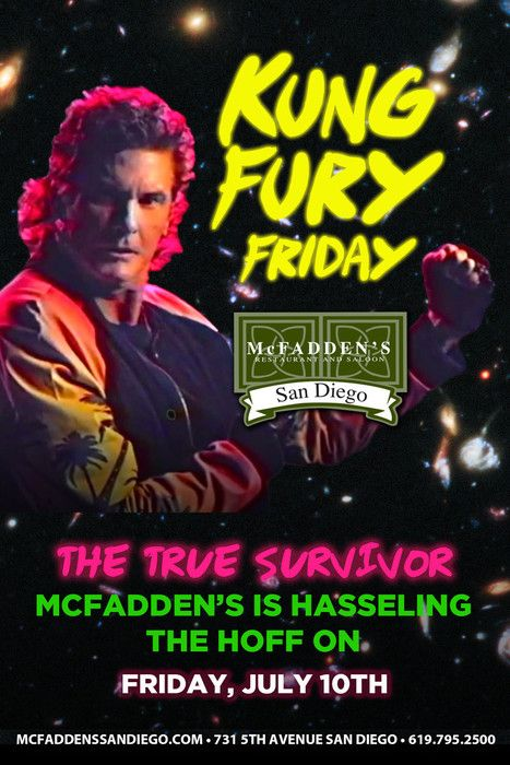 Kung Fury Friday Comic Con 2015 July 10, 2015 Are you ready... for the TRUE SURVIVOR?