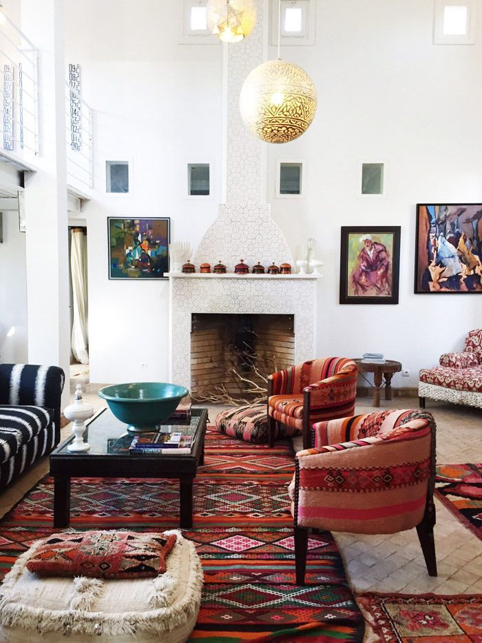 Morocco Marrakech Peacock Pavilions Maryam Montague Living Room Decor Erika  Brechtel