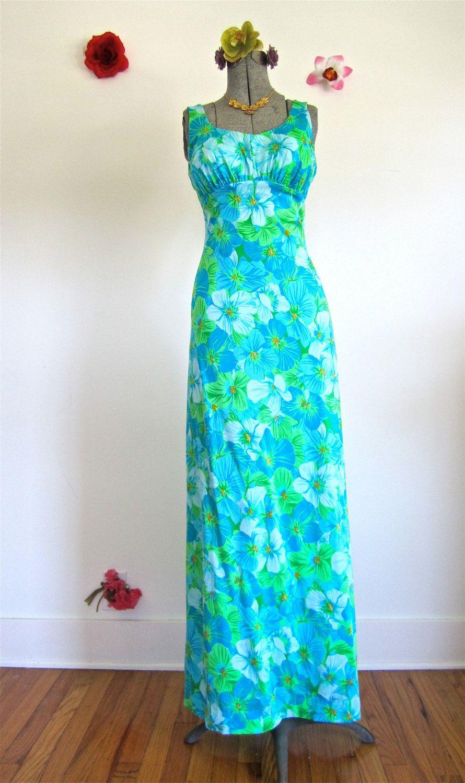 Szm s de weese long maxi dress floral swimsuit fabric blues