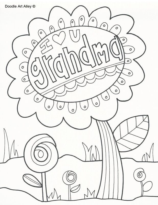 All kinds of printable coloring pages | Grandparents Day | Pinterest ...