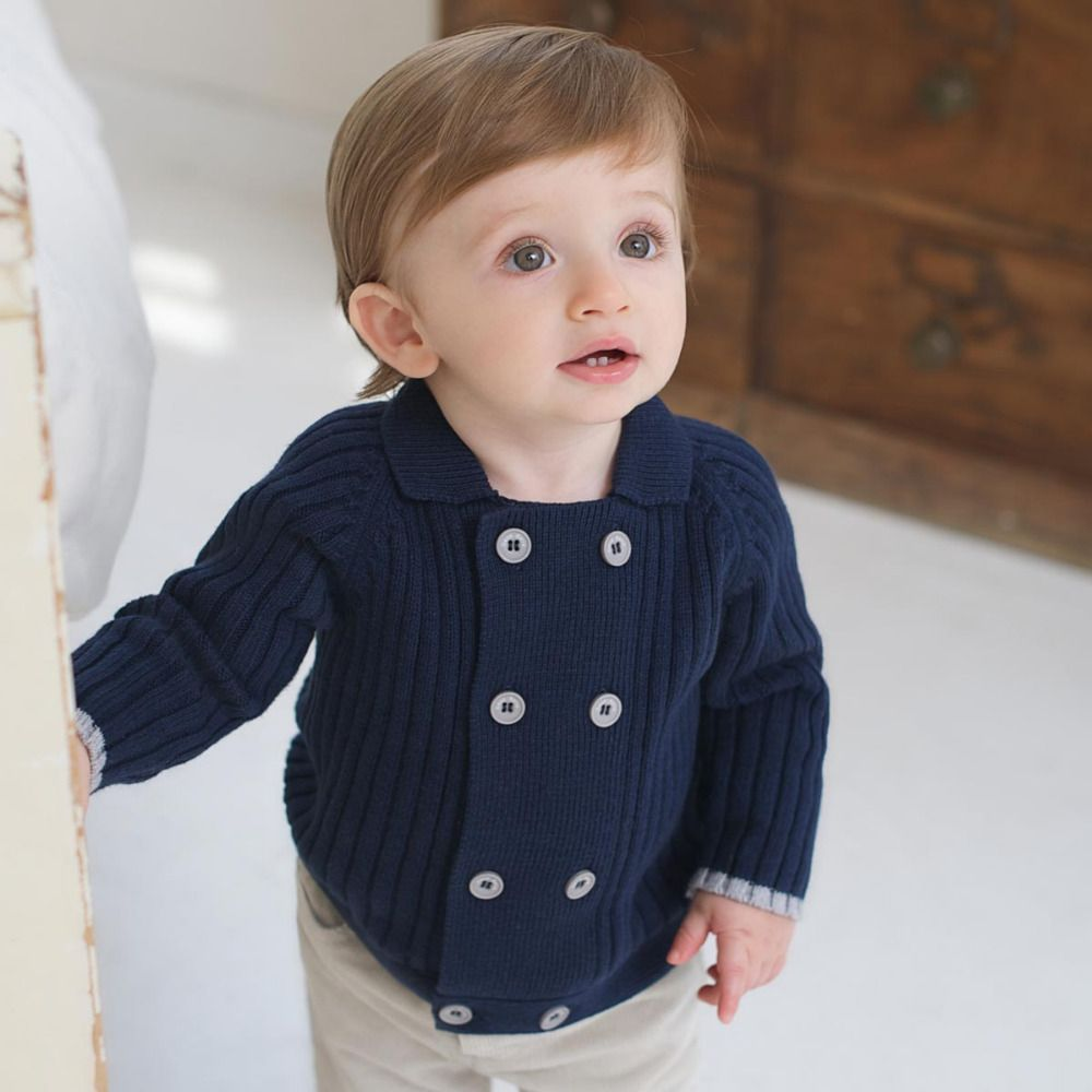 Toddler Kids Baby Boy Girl Jacket Coat Long Sleeve Stripe Button Cardigan Kids Outwear Spring Outfits