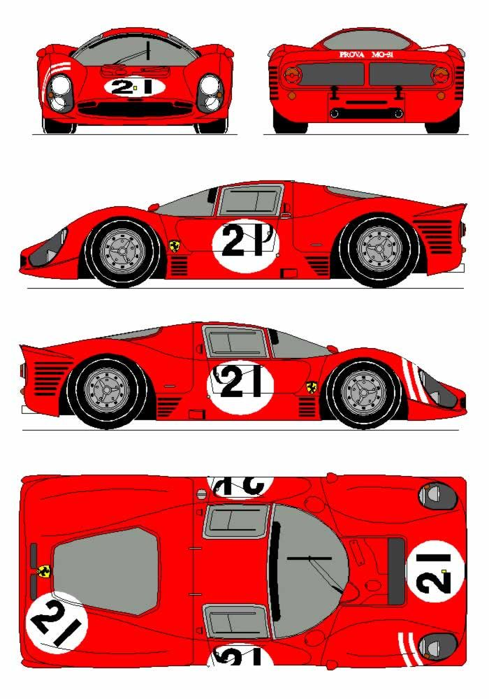 Ferrari 330 P3 (1966)   SMCars.Net - Car Blueprints Forum   Ferrari ...