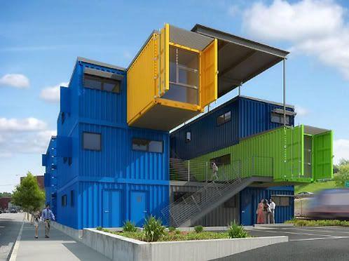 Box office oficinas com contedores oficina pinterest - Arquitectura contenedores maritimos ...