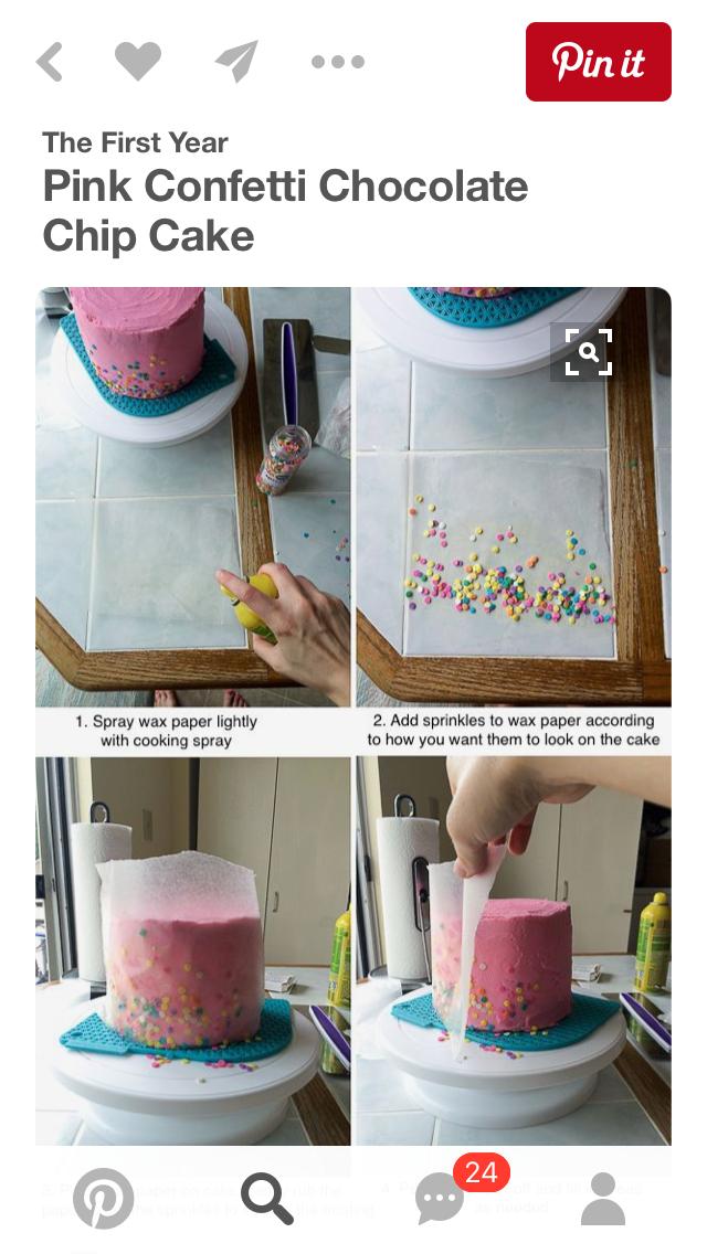 How To Add Sprinkles To Cake Chocolate Chip Cake Cake Decorating Cupcake Cakes