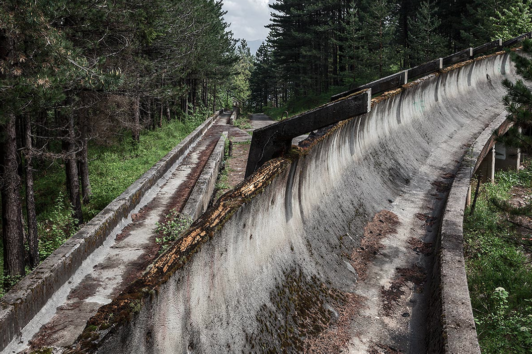Bobsled Track In Sarajevo Httpsportsyahoocomphotosthanks - Eerie abandoned olympic venues around the world