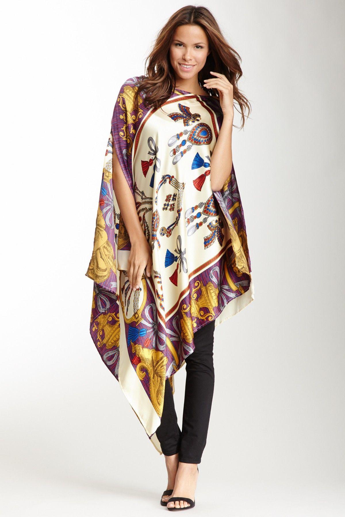 ef4af09096e Silk Poncho Top