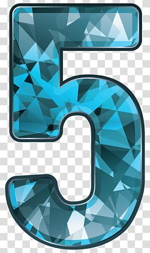 Blue And White Number 5 Illustration Blue Crystal Number Five Transparent Backgr Transparent Background Instagram Logo Transparent Facebook Logo Transparent