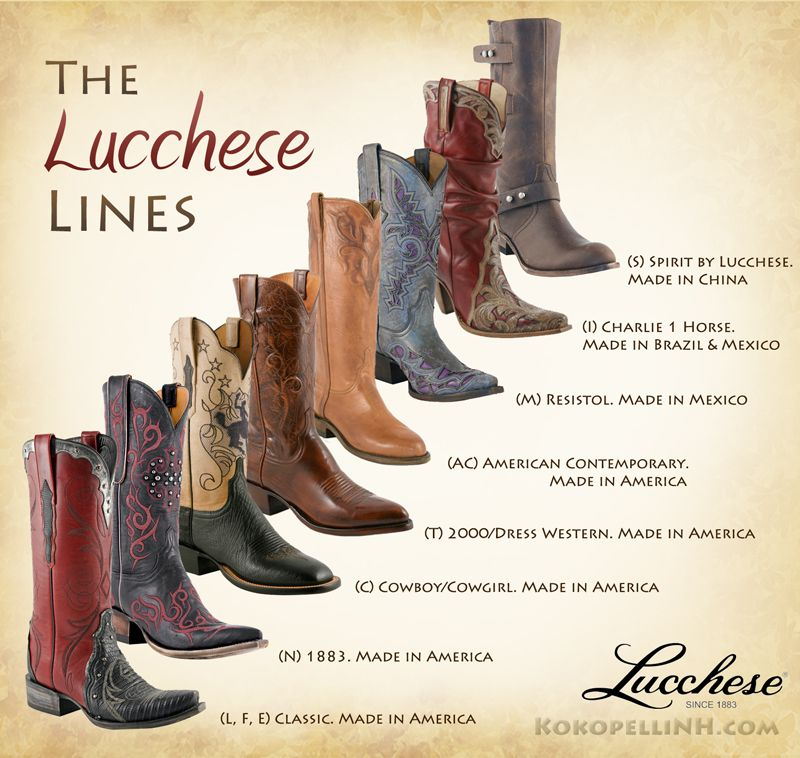 Want To Be A Lucchese Boot Expert Here Are Their Numerous Boot Lines Explained All Boots Other Than The Classics And Spirits Boots Lucchese Boots Cool Boots