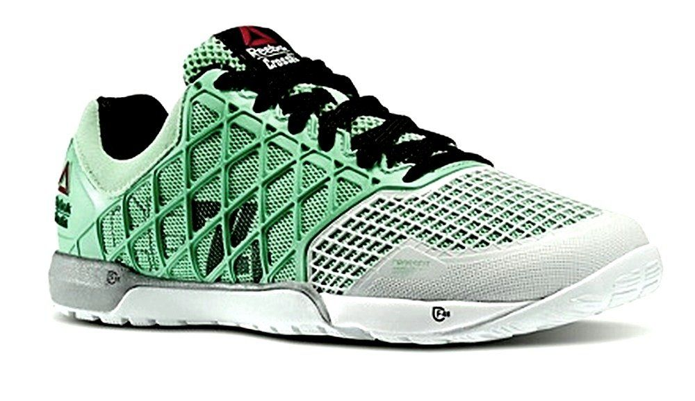 Reebok Womens Crossfit Nano 4.0 Training Sneakers in Mint Glow   Porcelain    Black   Met 3623df4091