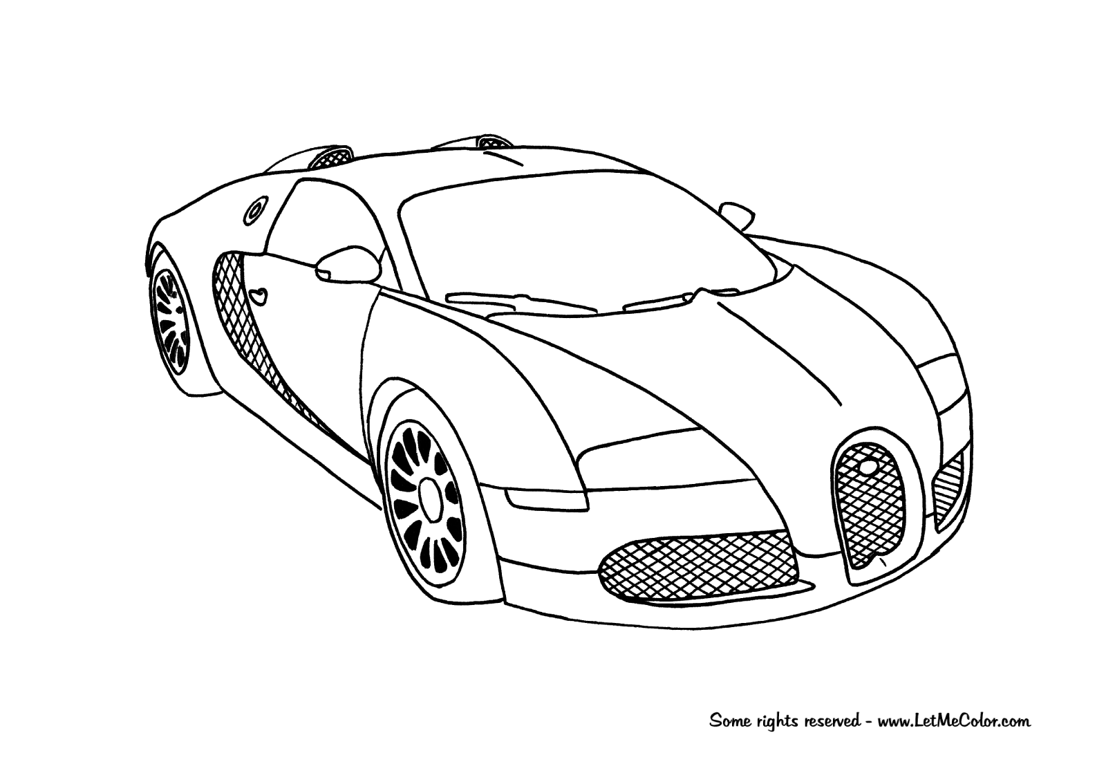 Bugatti Veyron Supercar Coloring Page Cars Coloring Pages Race Car Coloring Pages Bugatti Veyron