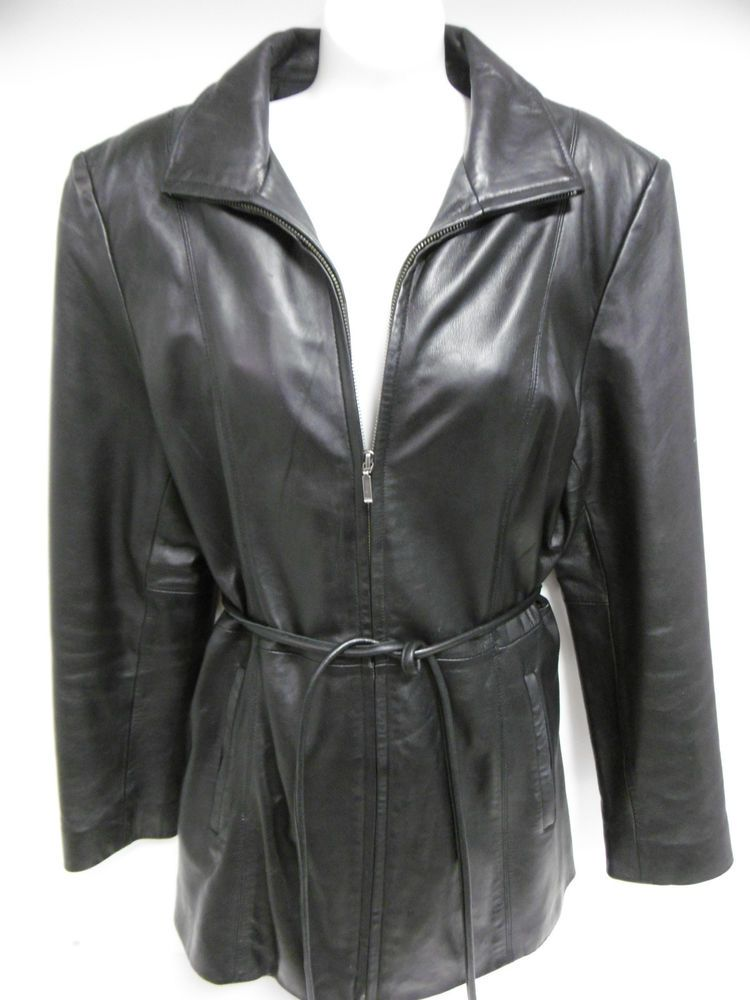 e276fc412627 JLC NEW YORK OUTERWEAR LADIES BLK LEATHER JACKET LARGE 29