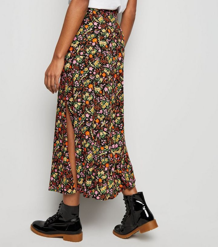 49c390e0d Tall Black Ditsy Floral Midi Skirt in 2019 | Stay Sassy ♥ | Skirts ...