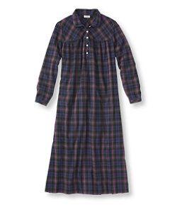 #LLBean: Tartan Flannel Nightgown