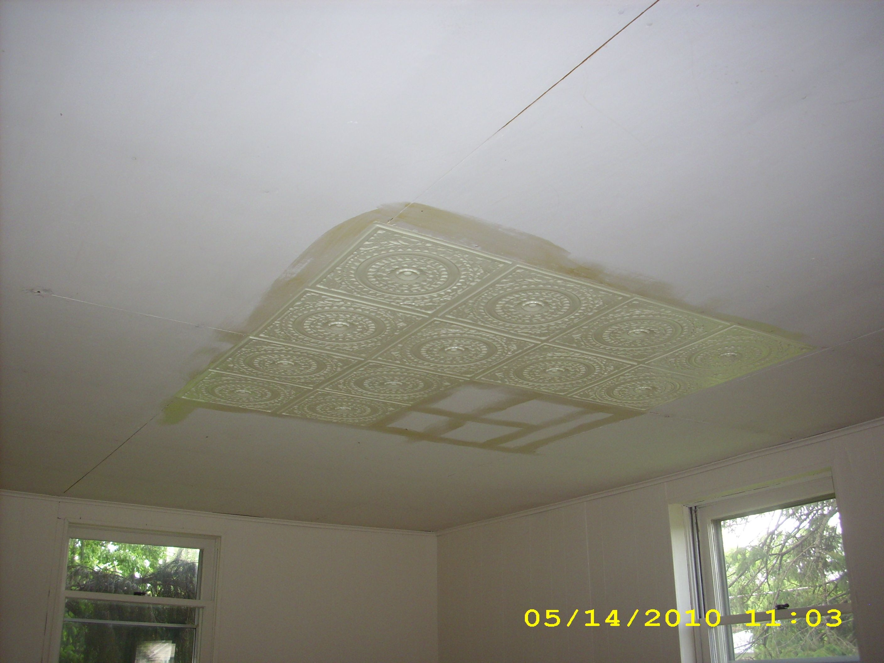 White Faux Tin Ceiling Tiles Httpcreativechairsandtables