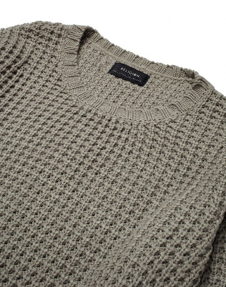 Religion Waffle Knit Jumper