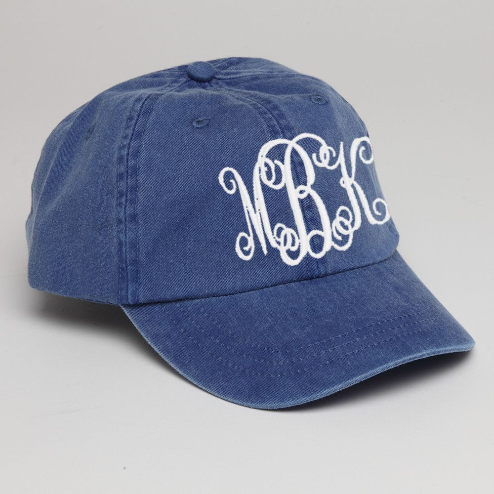 de36121c2153a Monogram Baseball Hat-Royal Blue | Monogram Baseball Hats | Baseball ...