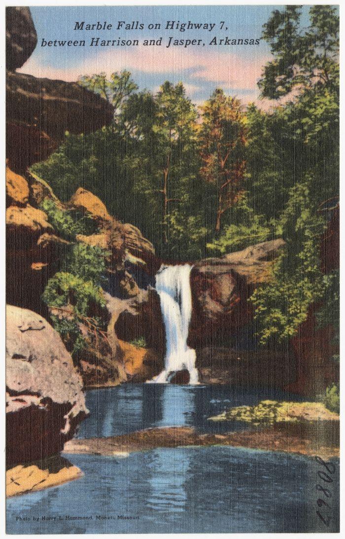 Marble Falls Waterfalls In Arkansas At Itravelmag Net Arkansas Waterfalls Marble Falls Waterfall