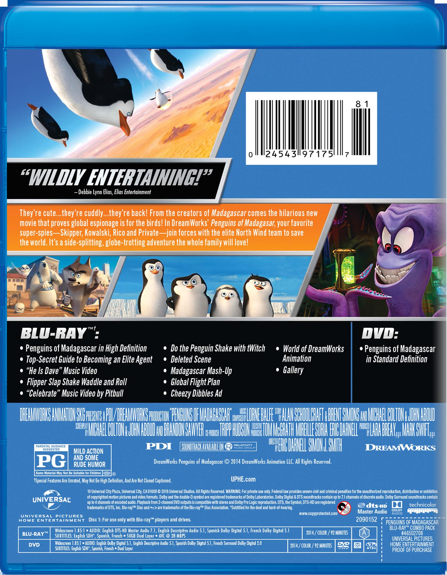 Penguins of Madagascar (Blu-ray DVD)#Madagascar, #Penguins, #Blu