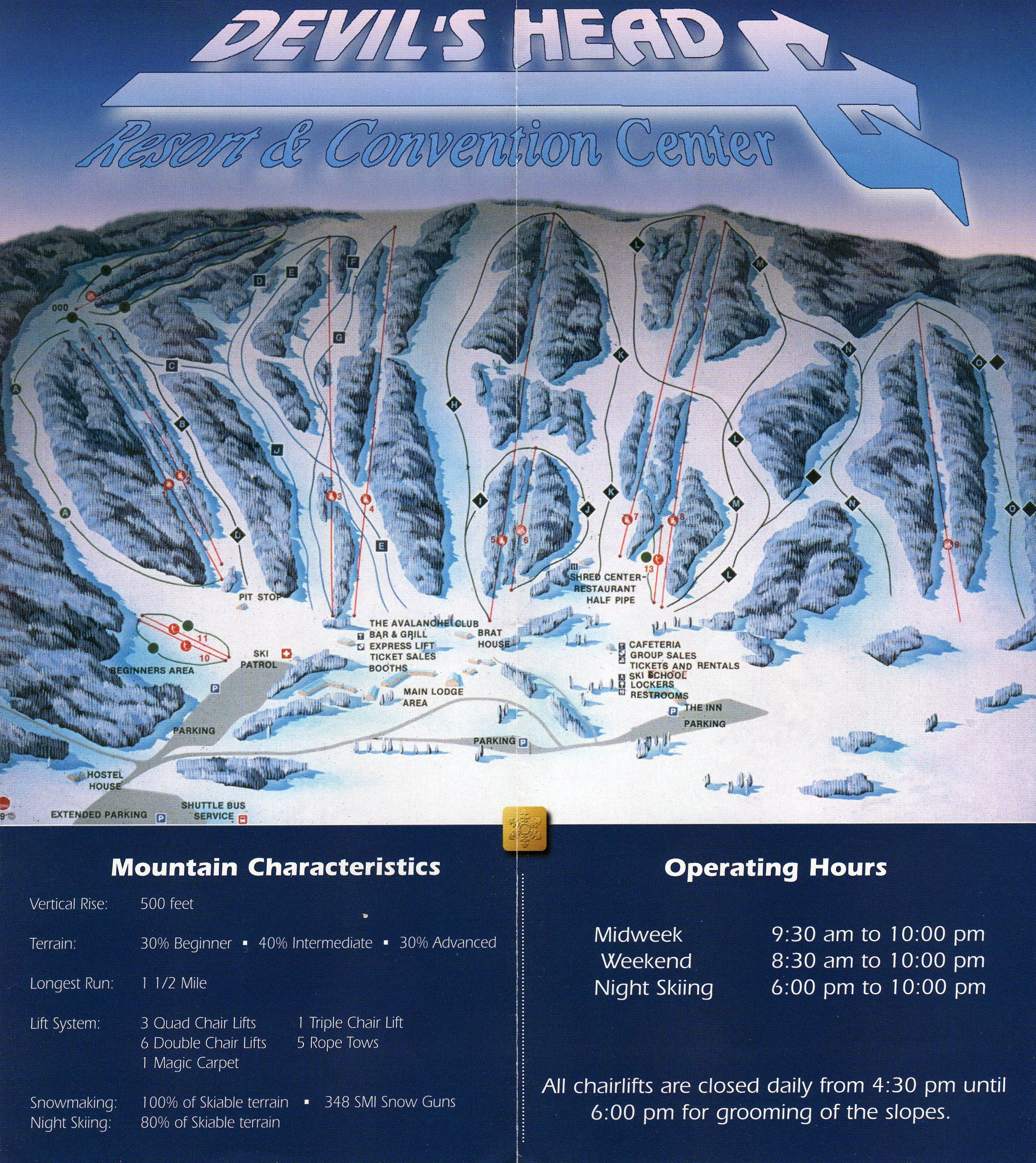Best Places In The Us To Snowboard: Devil's Head Resort, Wisconsin
