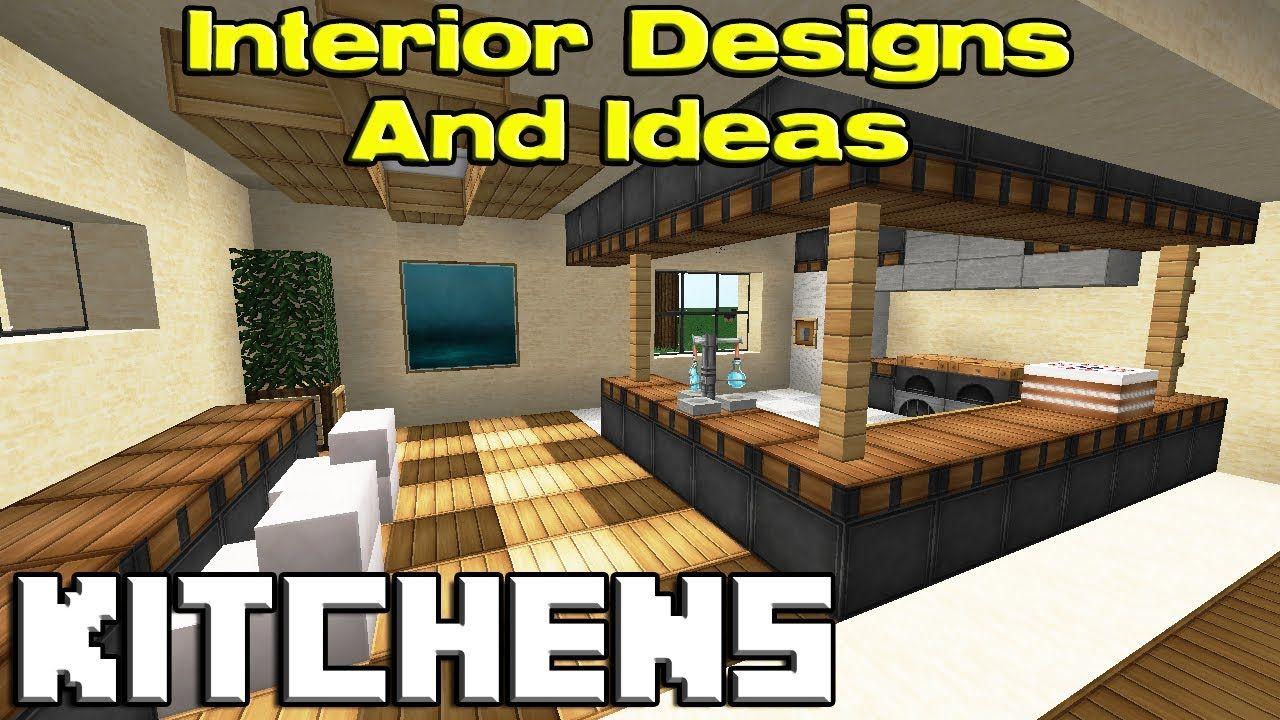 minecraft modern house kitchen - Google Search | Minecraft kitchen ideas, Minecraft modern ...