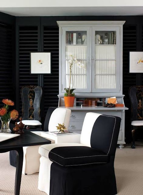 Love these black and white chairs Residential Design Pinterest