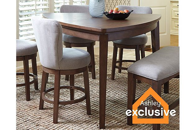 Medium Brown Mardinny Counter Height Dining Room Table View 1