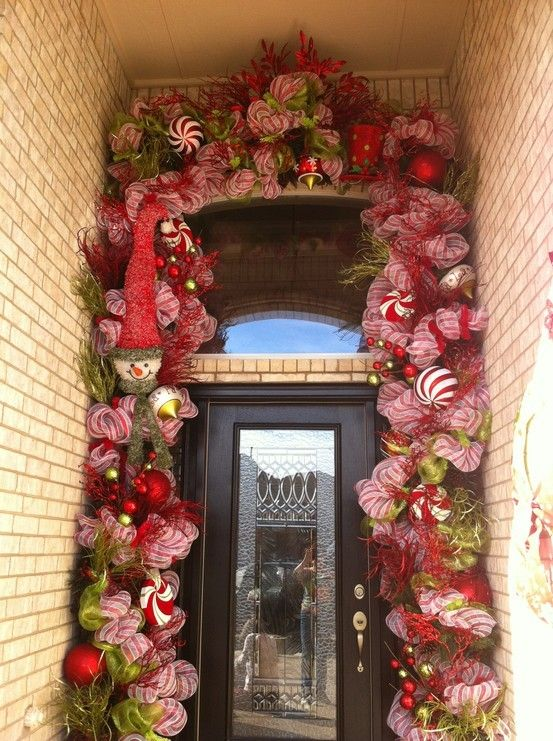 Christmas Door Decor CHRISTMAS Pinterest Doors, Christmas