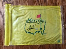 Tiger Woods Autographed Course Used Masters Flag. UD & Green ...