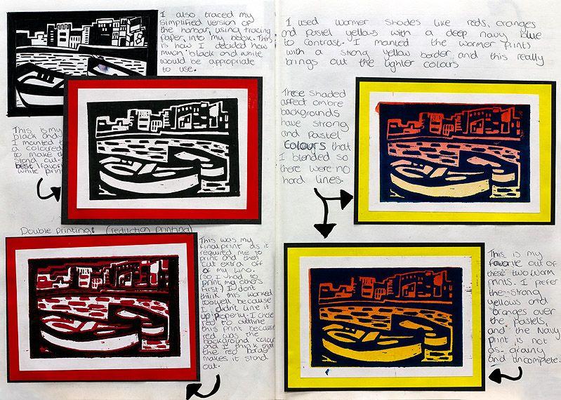 Lino Print Adele Hobbs A3 Size Sketchbook Lino Print Prints Sketch Book