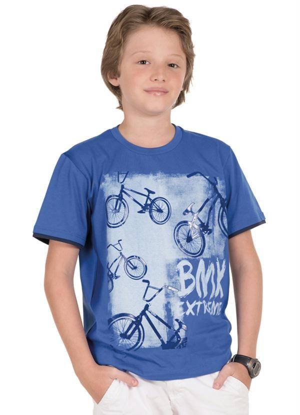 Camiseta Bike Teen Menino Rolú Azul - Posthaus  9d7e78ac814b0