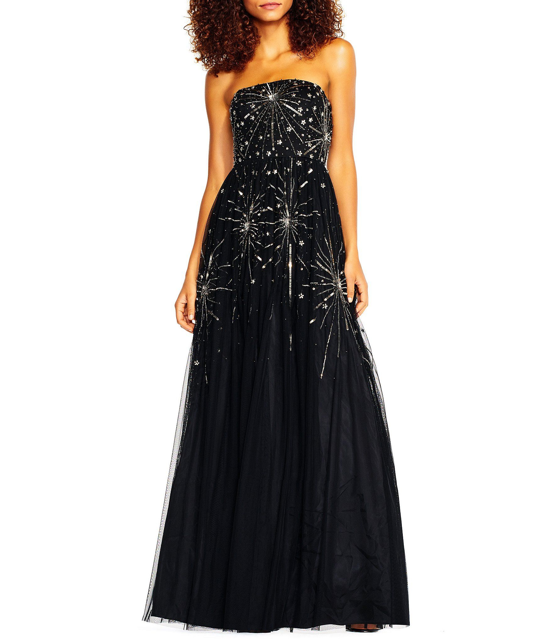 Shop for Adrianna Papell Strapless Beaded Ball Gown at Dillards.com ...