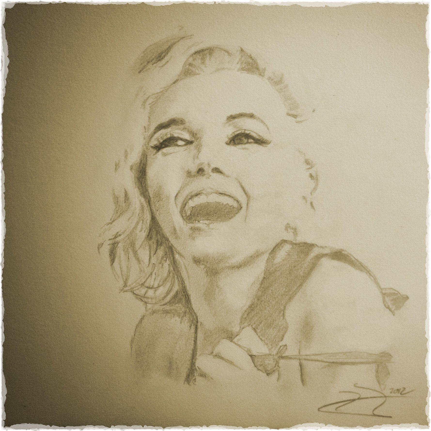 Marilyn Monroe portrait by David Juárez