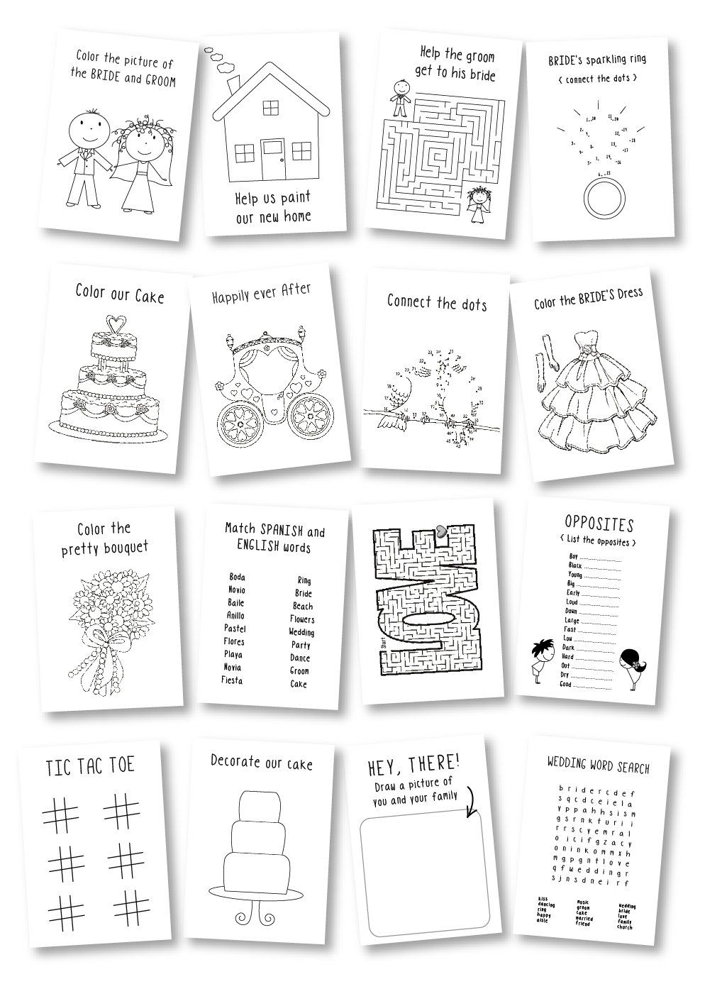 Kids wedding coloring book / wedding favor / kids wedding ...
