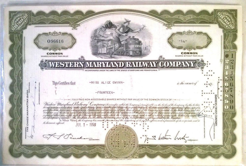 erie railroad company stock certificateOf Value Pinterest - example of share certificate
