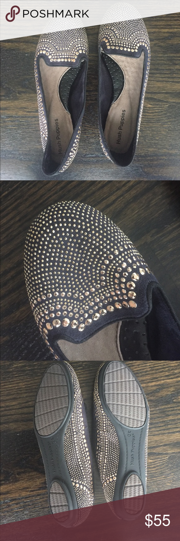 Studded Flats by Hush Puppies Super cute never been worn