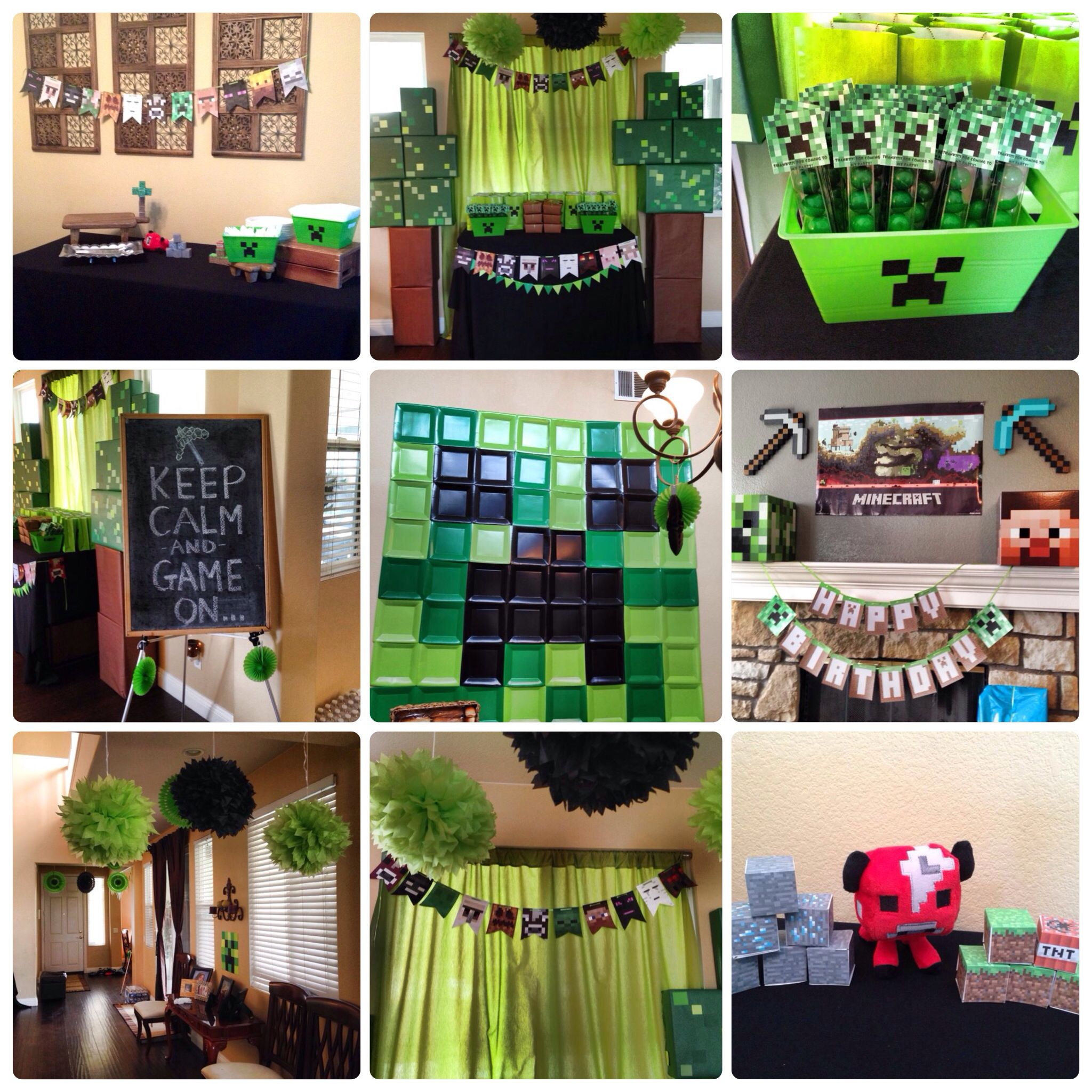 Minecraft Party Decorations Minecraft Party Decorations Jacksons Birthday Pinterest