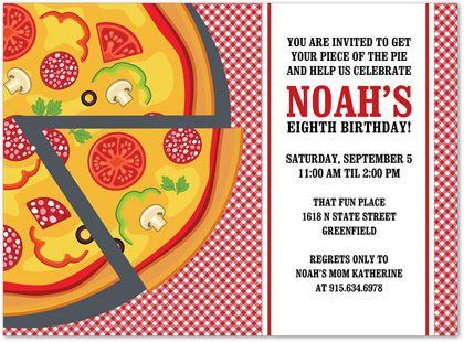 Pizza party invite Emerys Birthday Party Ideas – Pizza Party Invites