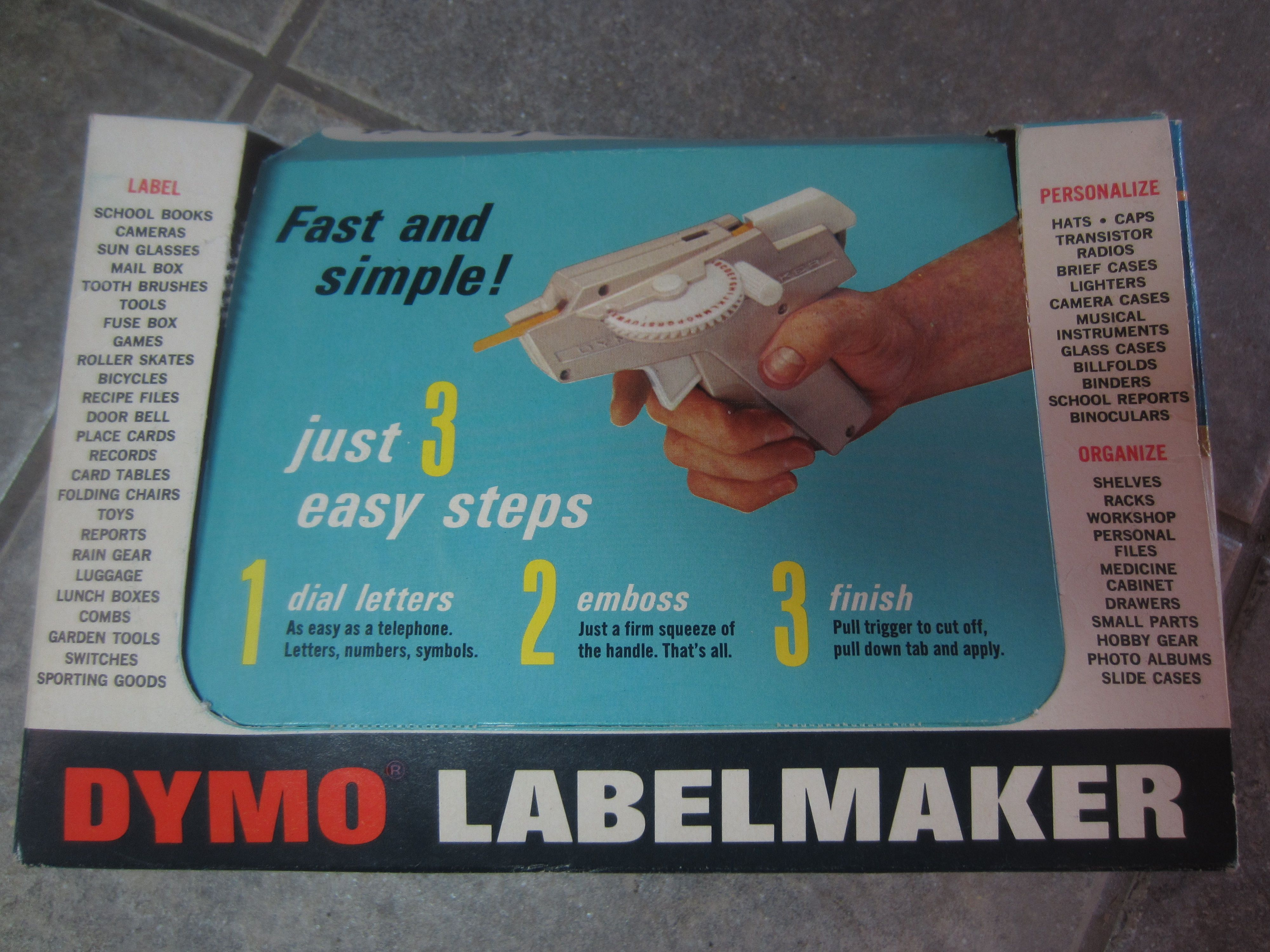 Scanning Around With Gene: Dymo-Mite! The Art of Labeling ...
