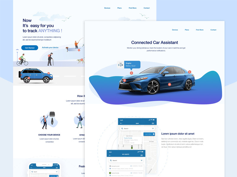 All Free Resources Sketch Freebie Sketch App Sources Page 1 With Images Landing Page Connected Car Sketch App