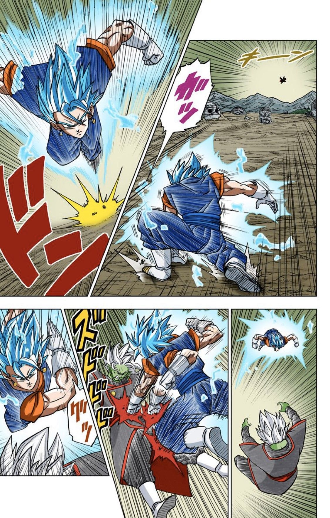 Vegito Vs Zamasu Dbs Manga Anime Dragon Ball Super Dragon Ball Art Anime Dragon Ball