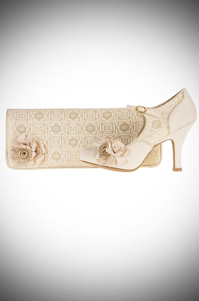 Emily Vintage Style Wedding Shoeatching London Bag Vow